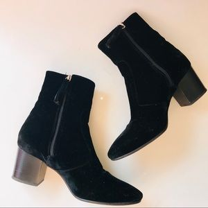 Topshop Women Boots Black Moscow Velvet Western 39